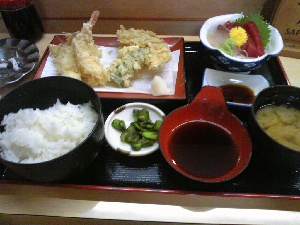刺身天ぷら定食