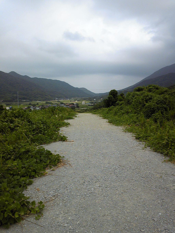 吉見に建設中の県道