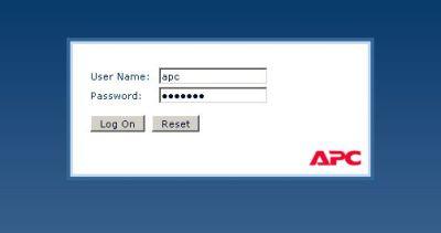 APC PDU(AP7900)のWEBログイン画面